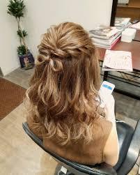 平原さんのヘアスタイル 前髪をあげてゆる巻きアレンジご Tredina