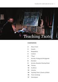 teaching tsotsi notes
