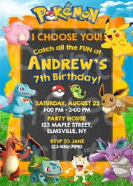 Free Pokemon Invitation Free Printable Pokémon Birthday Invitation