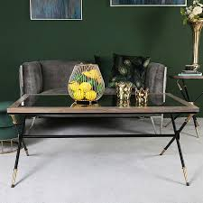 byron coffee table with a black and
