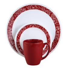 oven safe dinnerware. Brilliant Dinnerware Round Dishes Bandhani Vitrelle Dinnerware Set Oven Safe Mugs Bowls Kitchen  16Pc To M