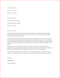 Cover Letters For Medical Assistant Letter Photos Hd Goofyrooster