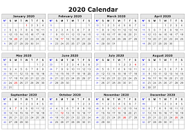 Monthly 2020 Calendar Templates Free Editable 2020 Calendar Printable Template