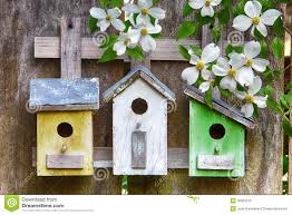 Rustic Birdhouses Three Wooden Birdhouses Stock Image Image 18232861
