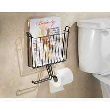 Toilet Roll Holder Magazine Rack Impressive Toilet Paper Holder With Magazine Rack Interdesign Classico Wall