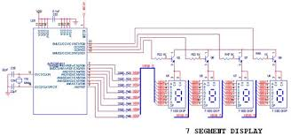 how to interface seg dspicf dspic development board circuit diagram to interface the 7 segment display