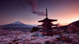 Churei Tower Mount Fuji In Japan 4k ...