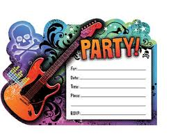 Boys Birthday Party Invitations Templates Rock Star Birthday Party Invitation Templates Rock Star
