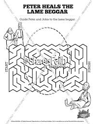 Coloring Picture Of Peter And John Healing Lame Man Coloring Pages