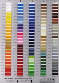 42 Abundant Madeira Rayon Thread Color Chart