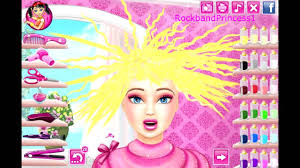 barbie hair cutting game barbie makeover game you