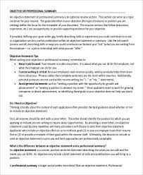 Objective Summary For Resume Awesome 60 Resume Summary Statement Examples Sample Templates