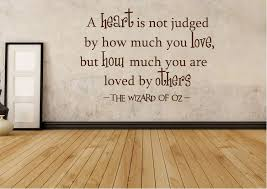text quotes wizard of oz a heart is not judged wall stickers on wizard of oz wall art with wizard of oz a heart is not judged text quotes wall stickers