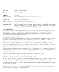 Roles Of A Sales And Marketing Manager Marketing Job Description Template