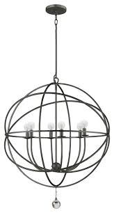 crystorama lighting 9228 eb solaris transitional eclectic chandelier