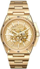 men s michael kors wilder gold steel automatic watch mk9027