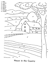 Color By Number Coloring Page Easy Beginner Follow The Color