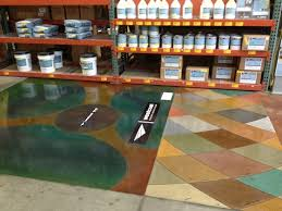 Westcoat Epoxy Color Chart Distributor Floor Gets A Water Based Stain Color Chart