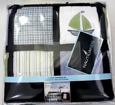 nautica kids boys zachary 7 piece patchwork sailboat crib bedding set comforter