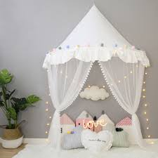 US $6.99 46% OFF|Children's Teepee Tent for Kids Canopy Drapes for Cribs Baby Girl Princess Canopy Bed Curtains Nursery Sofa Reading Corner Decor-in ...
