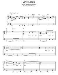  slander — love is gone piano sheet music. Love Letters By Diana Krall Victor Young Digital Sheet Music For Download Print Hx 201571 Sheet Music Plus