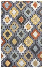 bradberry downs soft wool rectangle area rug 3 x 5 blue grey yellow red trellis