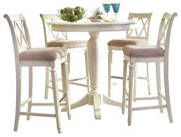 american drew camden light round counter height ped table in white painted