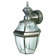 heath zenith 150 degree silver hanging carriage lantern with clear beveled glass hz 4166 sa the home depot