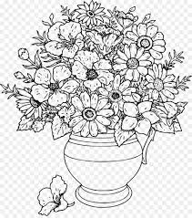 Coloring Pages Adults Coloring Pages Flowers Coloring Book For