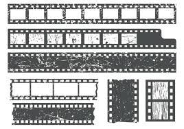 Film Strips Pictures Free Film Strips With Grain Texture Vector Download Free Vector
