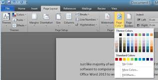 Small Picture How To Change Page Background Color In Word 20162013