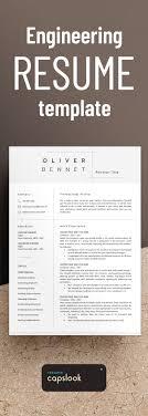 Minimalist Resume Template Resume Engineer Architecture Resume