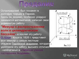Презентация на тему Реферат на тему М В Остроградский Выполнила  10 Остроградский