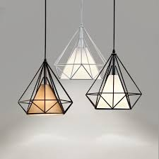 nordic pendant light black cage lamp luminaire e27 hanglamp pertaining to idea 16