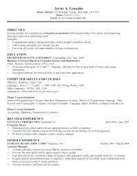 Computer Resume Examples Computer Science Resume Template 8 Free ...