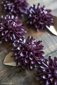 Dahlia Flower Making With Paper Make A Paper Dahlia For Fall Lia Griffith