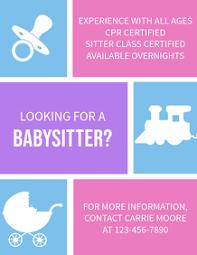 Babysitter Flyer Maker 190 Babysitting Customizable Design Templates Postermywall
