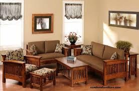 Wooden Living Room Awesome Set Kursi Tamu Sofa Minimalis R48AU Terbuat Dari Material Kayu Jati