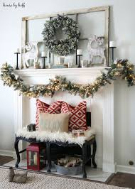 Glittery Bristle Pine Wreath And Garland Winter And Christmas Mantel Decor  Ideas | House By Hoff