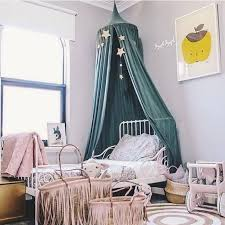 new Tents Kid Bed Canopy Bed Curtain Round Dome Hanging Mosquito Net Curtain Moustiquaire Zanzariera For Baby Kids Playing Home Klamboe