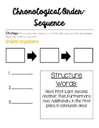 Sequence Chronological Order Anchor Chart