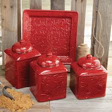 Rustic Kitchen Canisters Ideas About Red Canisters On Pinterest Kitchen Canisters Canisters