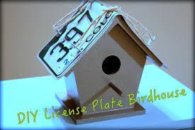 Diy Birdhouse License Plate Birdhouse