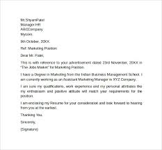 Cover Letter For Marketing Jobs Sample Marketing Cover Letter Template 9 Download Free