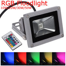 Multi Color Flood Lights Us 13 79 31 Off New Ip65 Waterproof 10w 20w 30w 50w Rgb Multicolor Reflector Led Floodlight Flood Light Lamp For Outdoor Wall Foco Exterior In