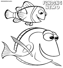 Simple Finding Nemo Coloring Pages Printable Coloring Page For Kids