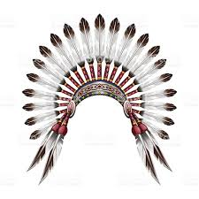feathered headdress clipart