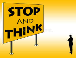 Image result for stop and think