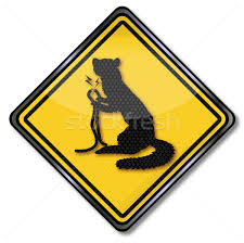 warning sign marten and cable car stock photo ustofre9