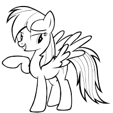 Small Picture My Little Pony Friendship Is Magic Coloring Pages Rainbow Dash Flying